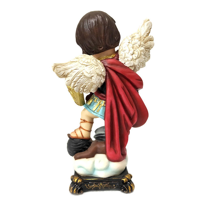 religious items hand made resin crafts custom cartoon archangel miguel statue