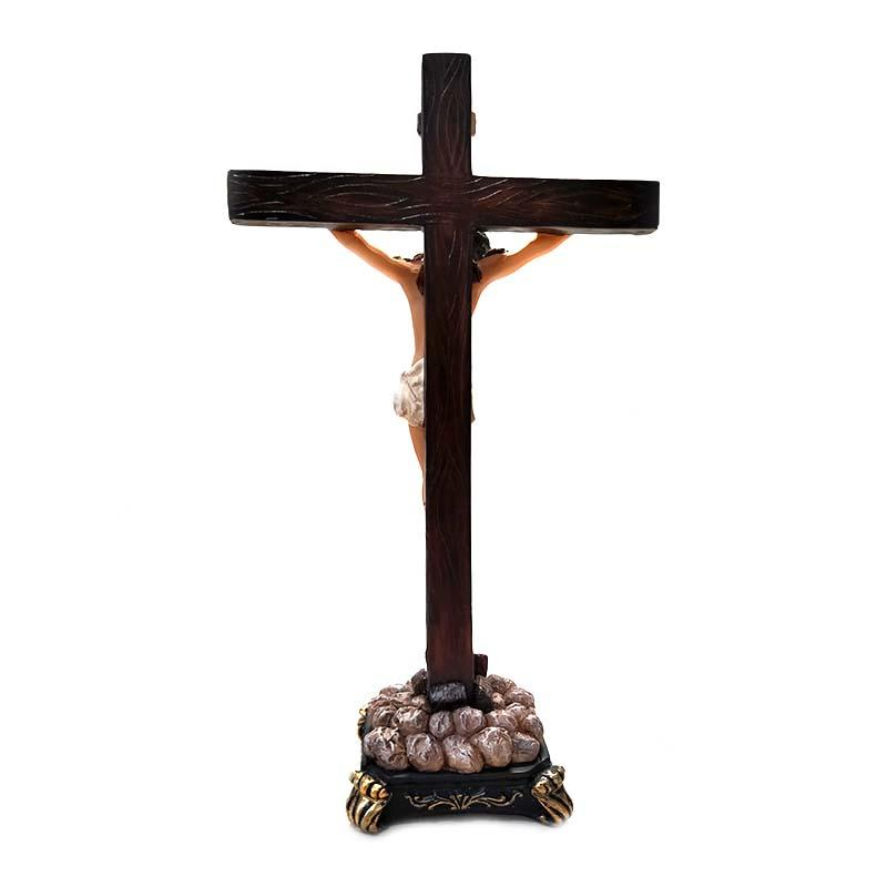 Catholic Brands Jesus Christ on Cross Ornate Style Standing Crucifix resin sculpture decorative figures