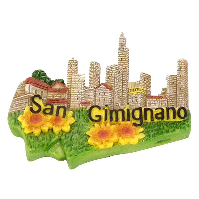 San Gimignano Resin Souvenirs Fridge Magnet Custom 3D Design for Promotional gift