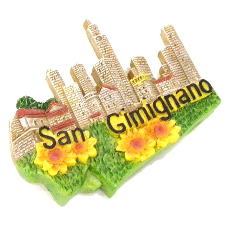 San Gimignano Resin Souvenirs Fridge Magnet Custom 3D Design for Promotional gift