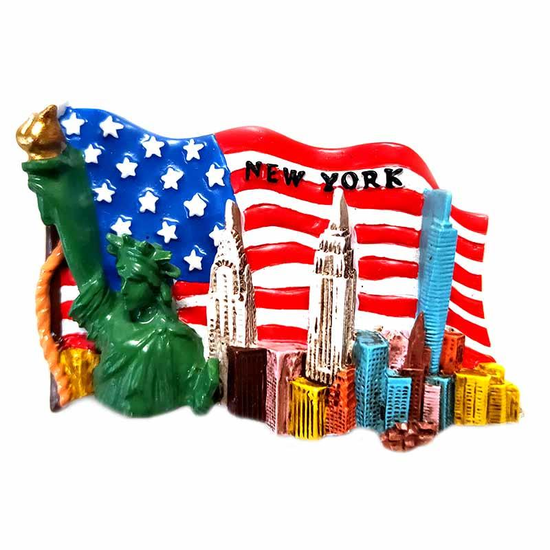 souvenirs 3d design New York tourist souvenir custom fridge magnet