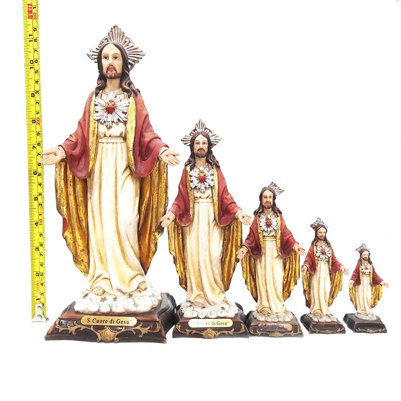 Custom Size Church Decoration Polyresin Sag.Cor.de Jesus Statue for Sale