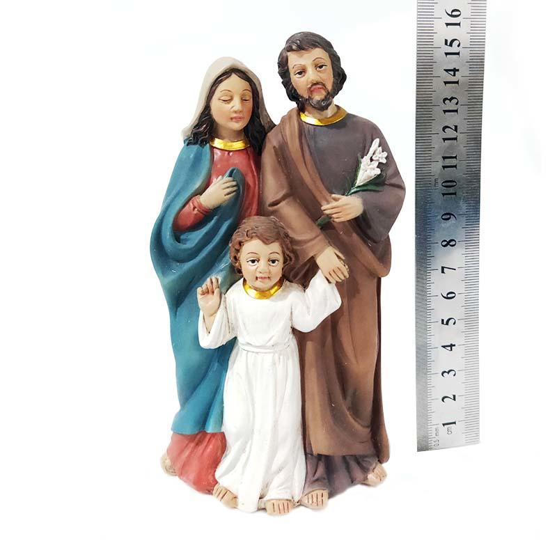 hand made custom Christmas decoration polyresin gifts Sagrada Familia Holy Family