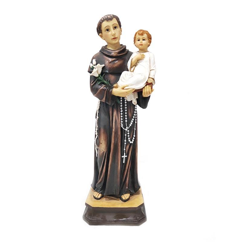 hand painted religious statue holiday decoration San Antonio Santo Figure