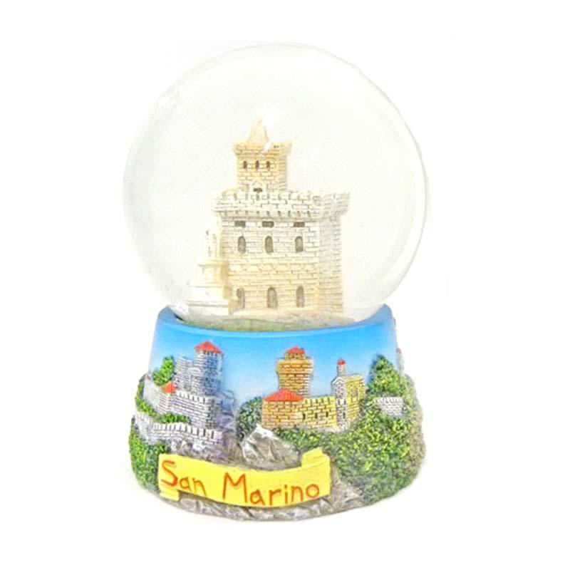 San Marino Souvenir Custom Promotional Gifts Polyresin Snow Globe