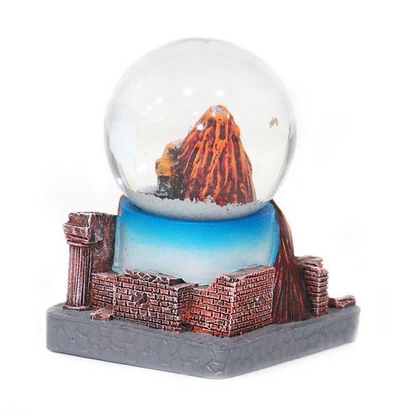 Custom Pompei Souvenirs Gifts Home Decoration Polyresin Snow Globe