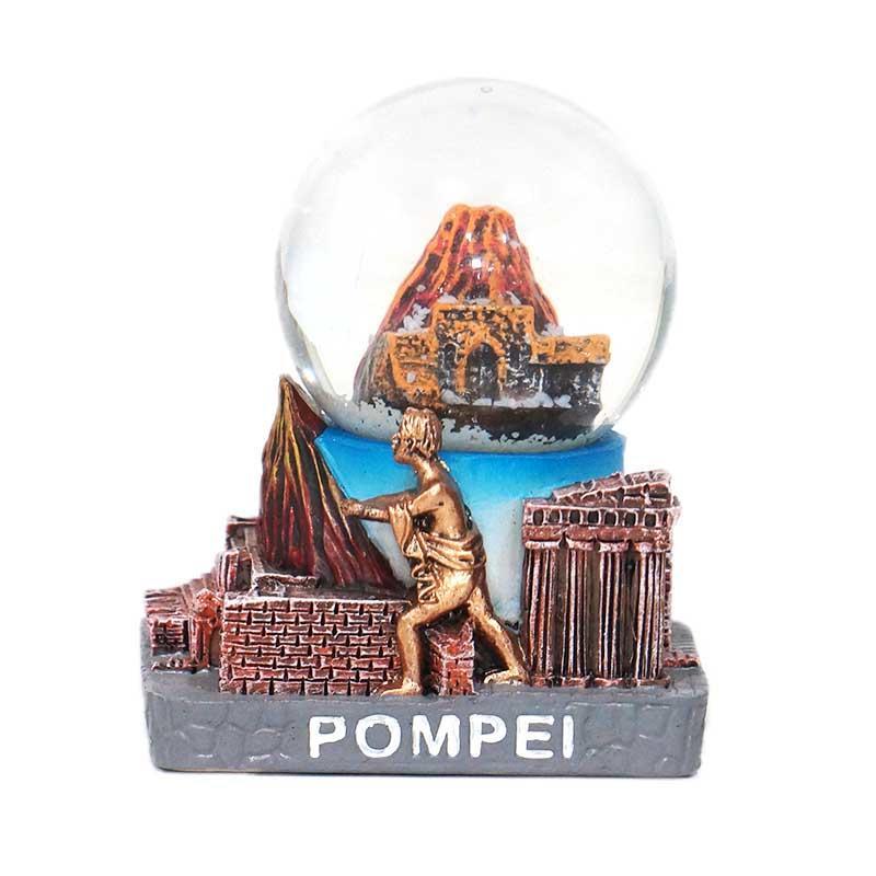 Custom Pompei Souvenirs Gifts Home Decoration Polyresin Snow Globe