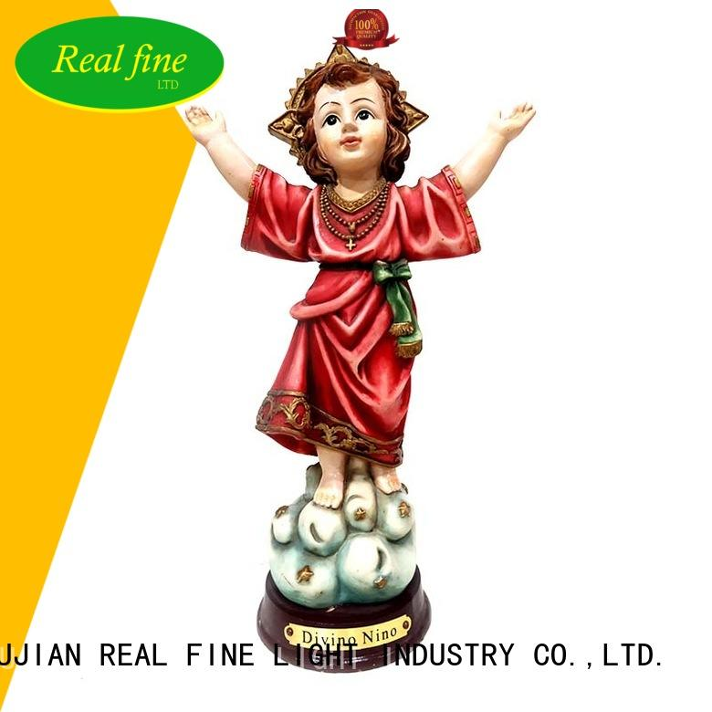 Real Fine santa resin religious statues wholesale for home