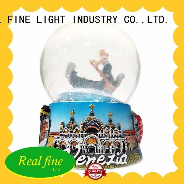 Real Fine beautiful custom snow globe supply for office