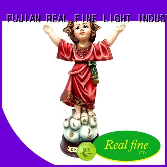 Christmas decoration polyreisn hand made figurines custom Divino Nino Holy Child statue