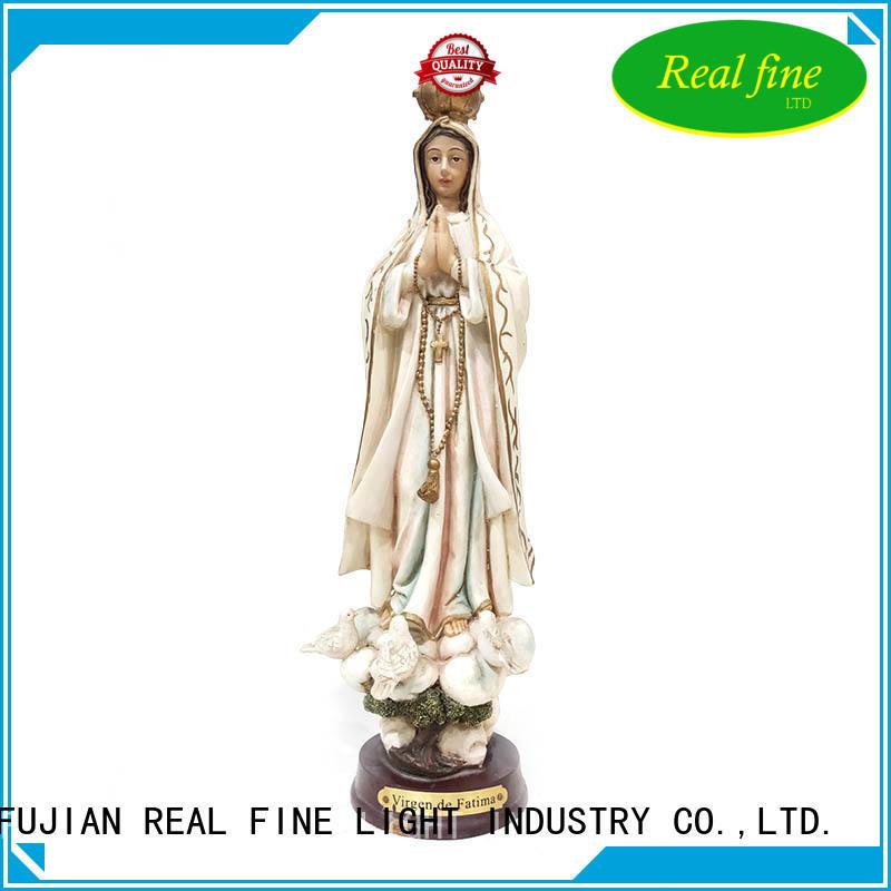 hand painted religious gift polyresin Virgin de Fatima figurine  deco figurines