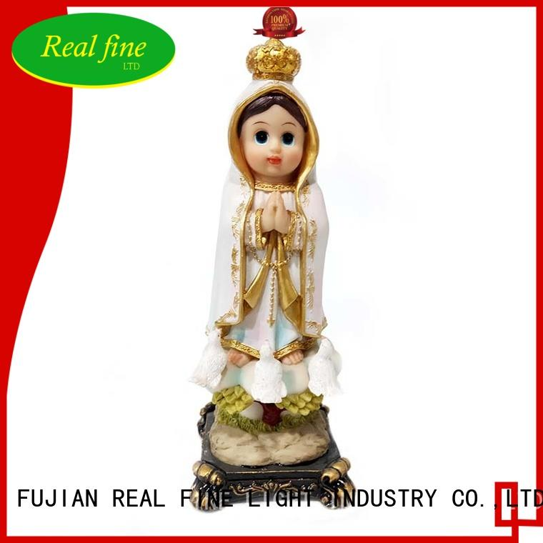 8 Inch New Arrival Innovative Style Child Fatima Statue figures Catholic Virgin Virgen Santa Fatima Estatua Baby Fatima Sculpture
