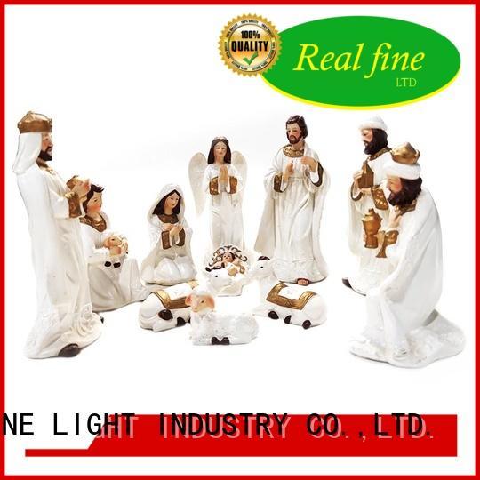 handmade resin handicraft nativity for home Real Fine