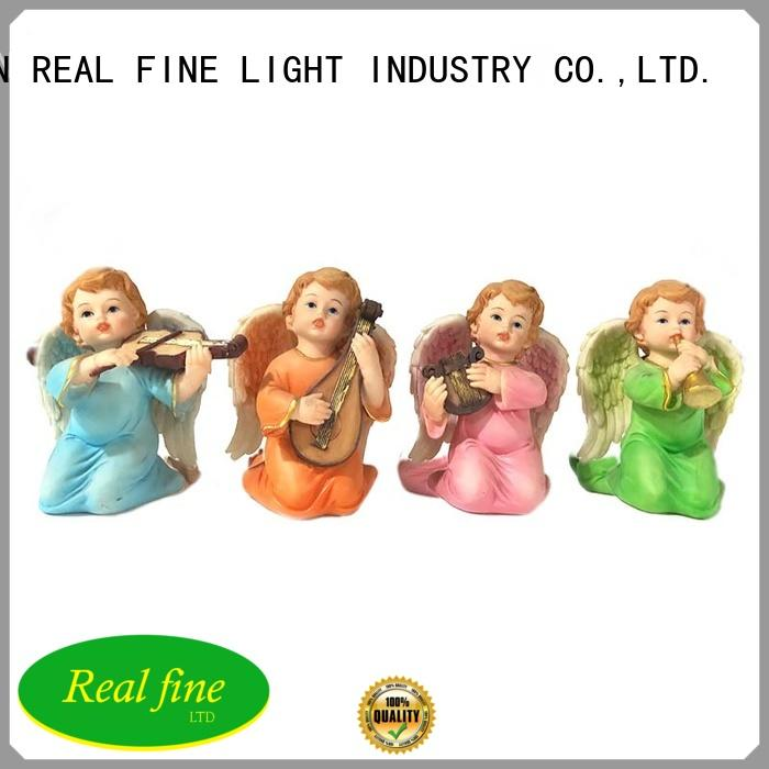 custom angel figurines gold for office Real Fine