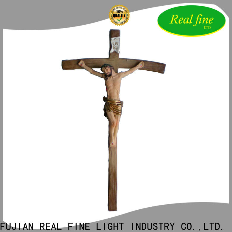 Real Fine crucifix resin figurines factory price for gifts