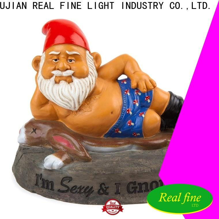 Real Fine colorful garden gnome statues factory for home