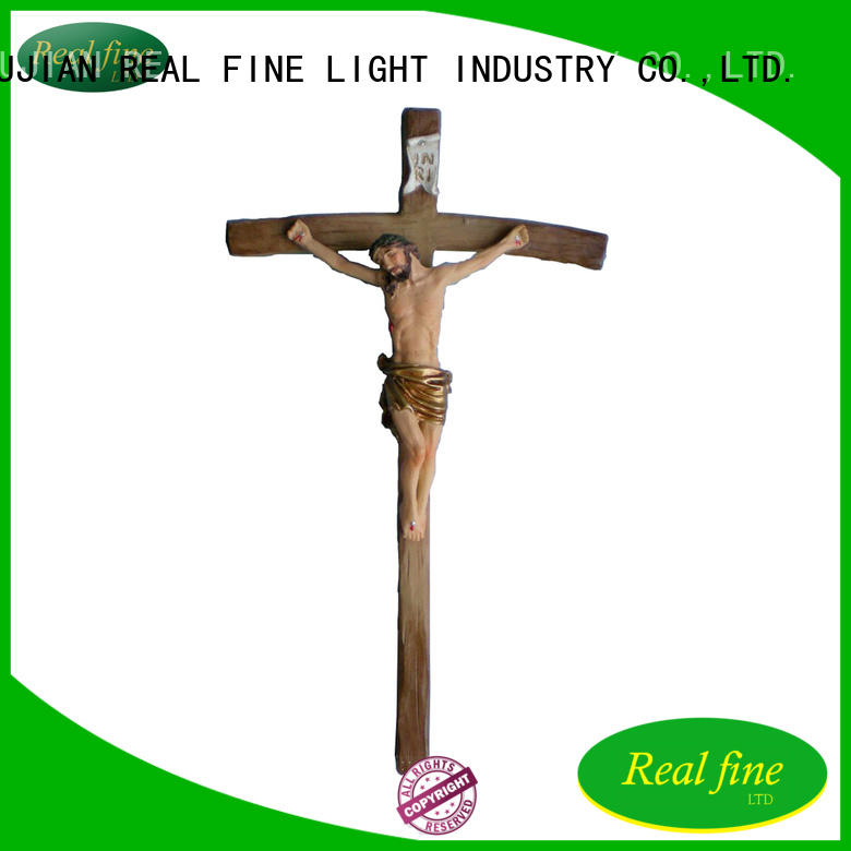 Real Fine crucifix resin figurines wholesale for wedding