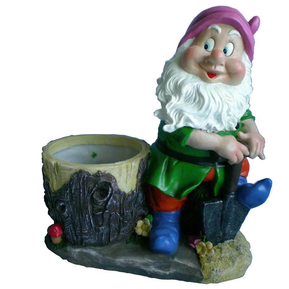 custom lovely resin gnome statue garden flower port
