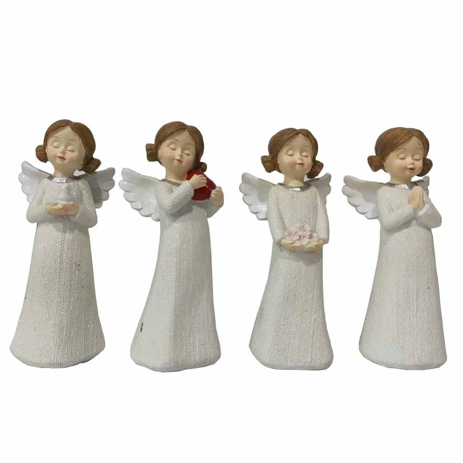 Wholesale OEM white creative design resin angel figurines for home decor