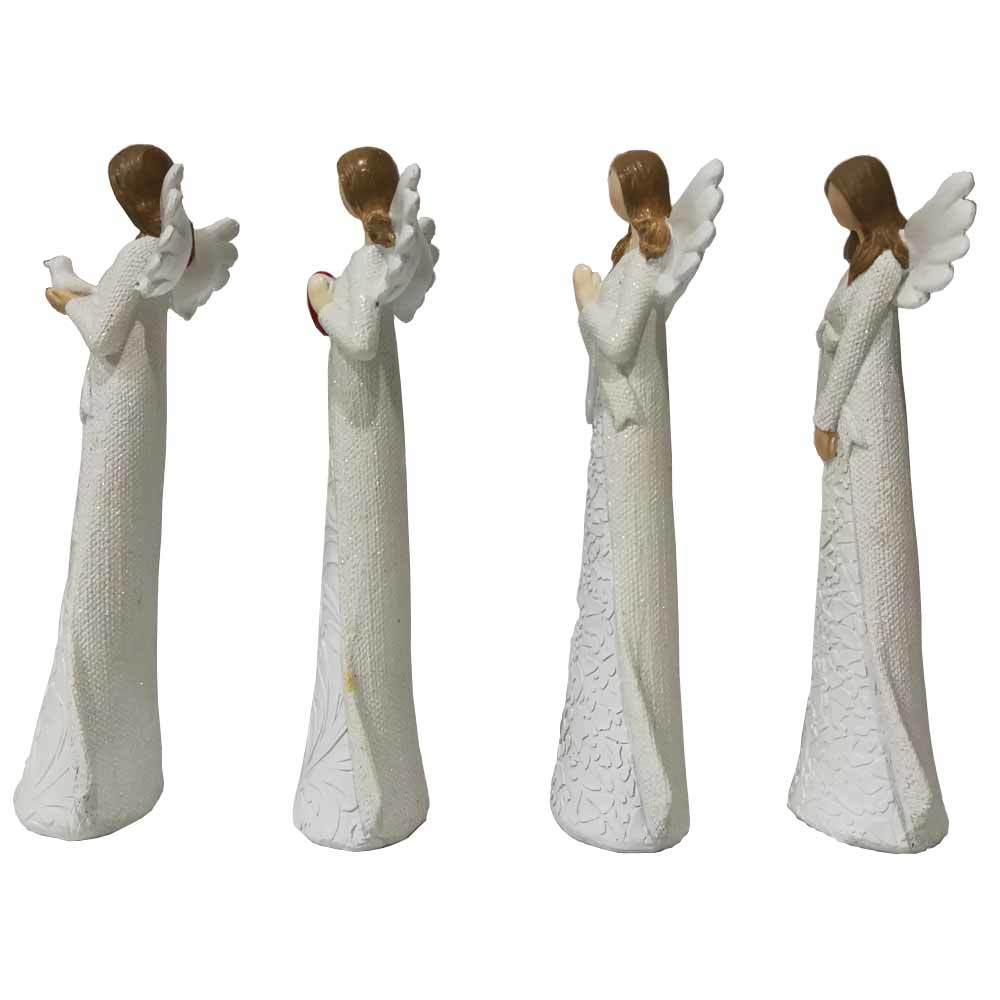 Custom home Christmas decoration handmade polyresin white abstract angel statue