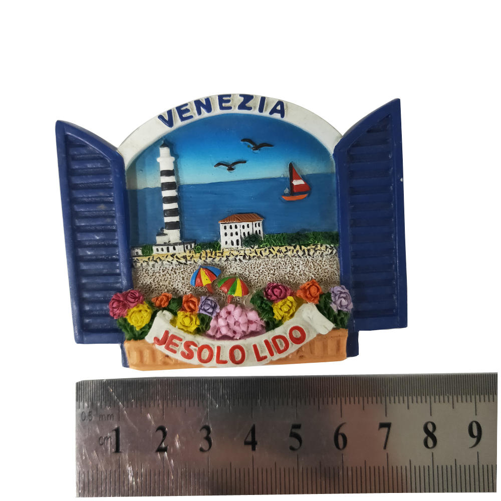 custom italy venezia souvenirs polyresin fridge magnet