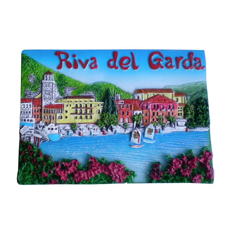 superior quality Italy stylish Lago di Garda tourist polyresin souvenirs fridge magnet
