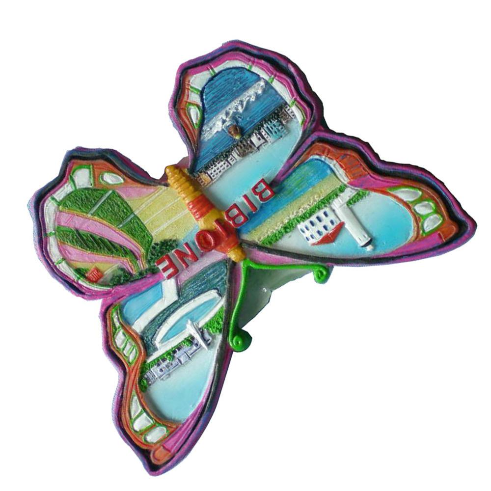 Butterfly type bibione souvenirs resin 3D handmade fridge magnet