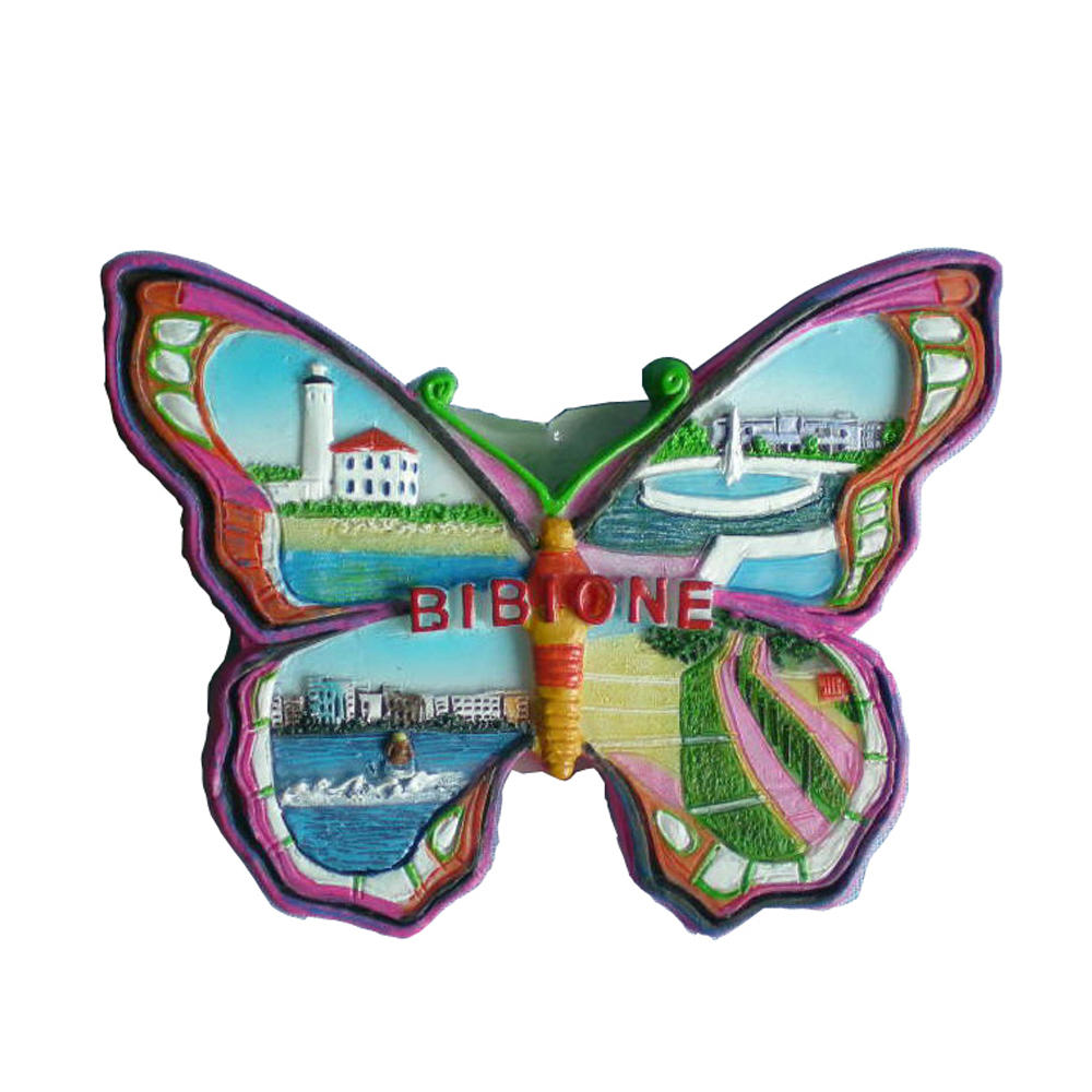 Butterfly type bibione souvenirs resin 3D handmade fridge magnet