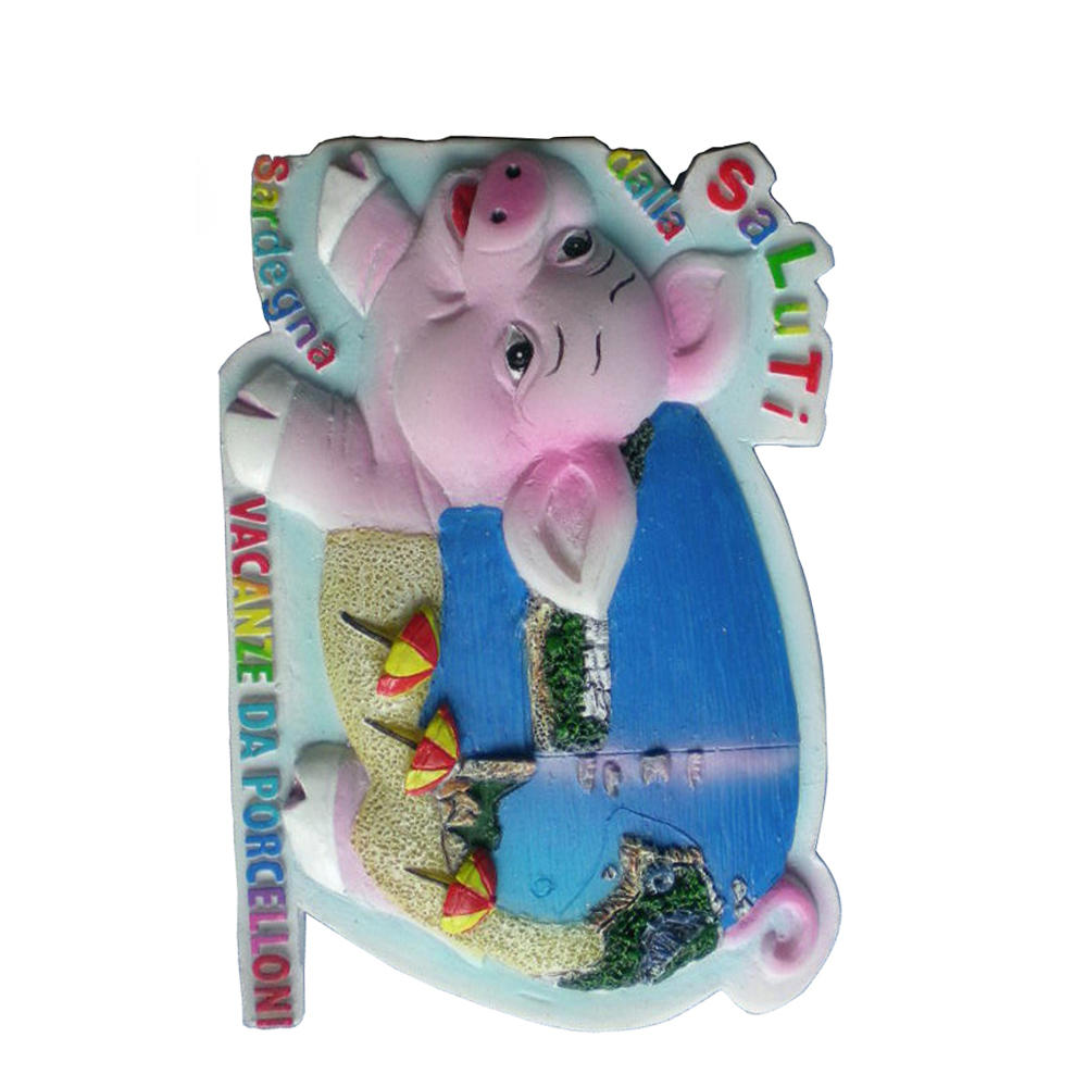 High quality wholesale the laster Sardegna pig creative cheap souvenir resin fridge magnet
