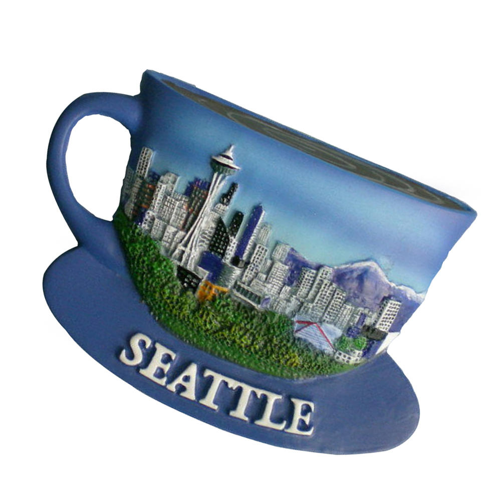 High quality resin seattle cup fridge magnet for souvenir