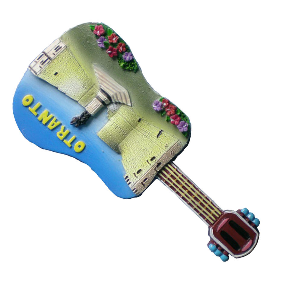 High quality souvenirs 3d resin Otranto fridge magnet for decoration