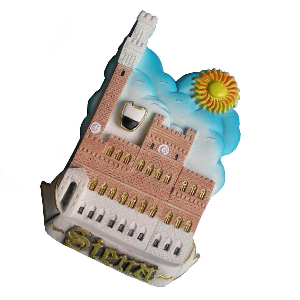 Wholesale souvenir Italy Siena castle polyresin fridge magnet for home decoration