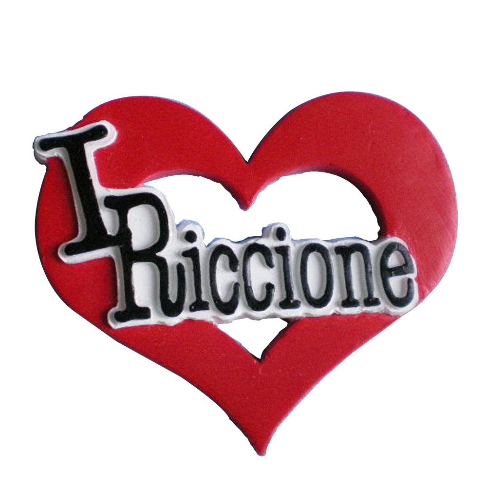 I love riccione heart shape polyresin souvenir fridge magnet for gift