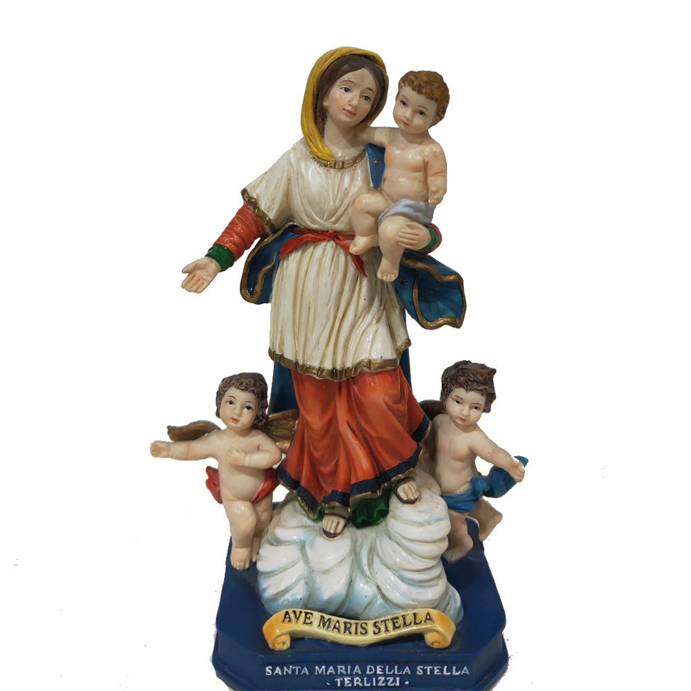 wholesale figurines and statues santa maria della stella terlizzi polyresin figurine