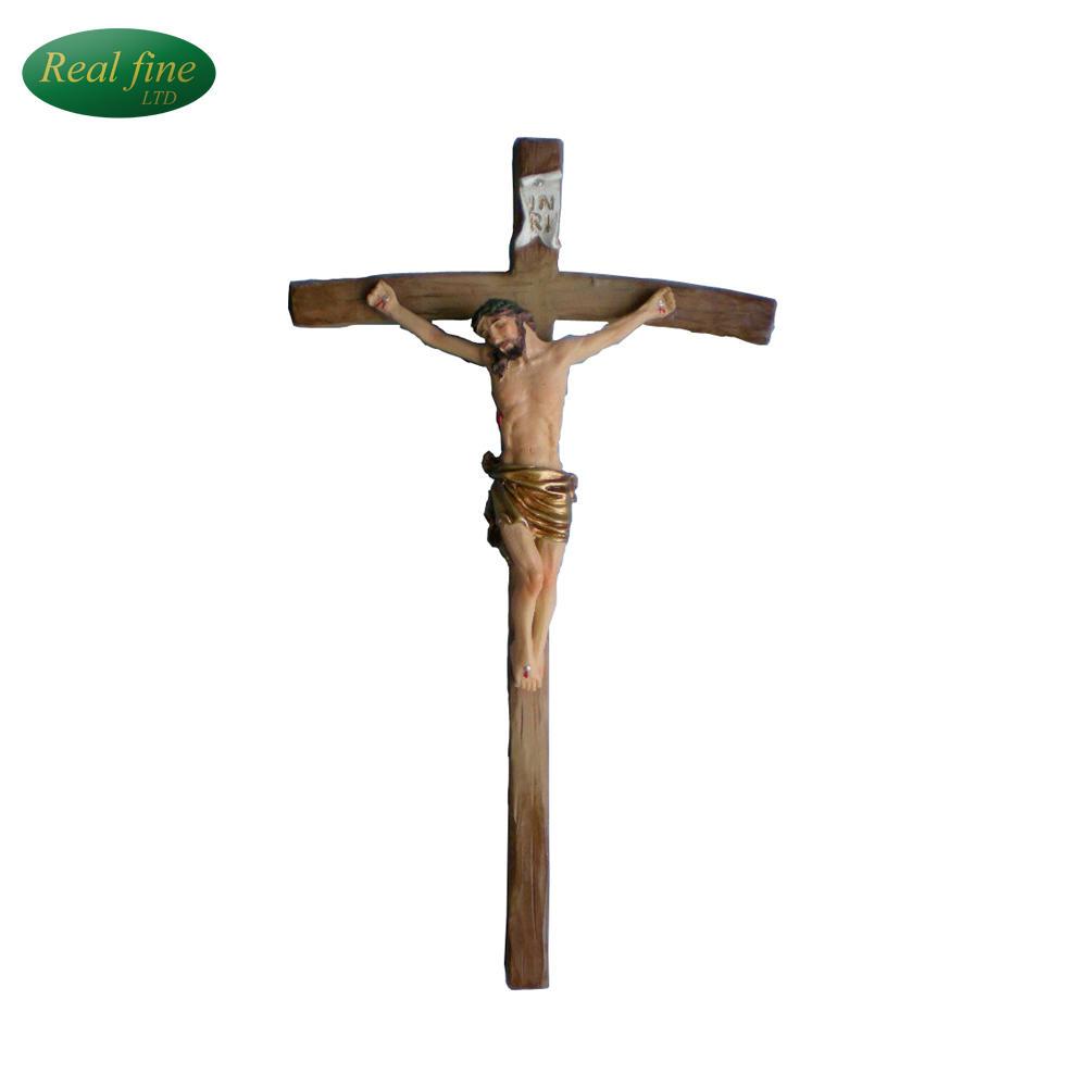 Polyresin Crucifix Cross Christian Decoration