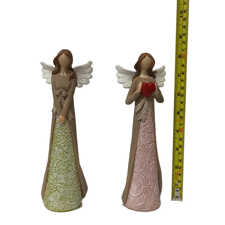 hot sale christmas ornament polyresin slim girl angel figurines