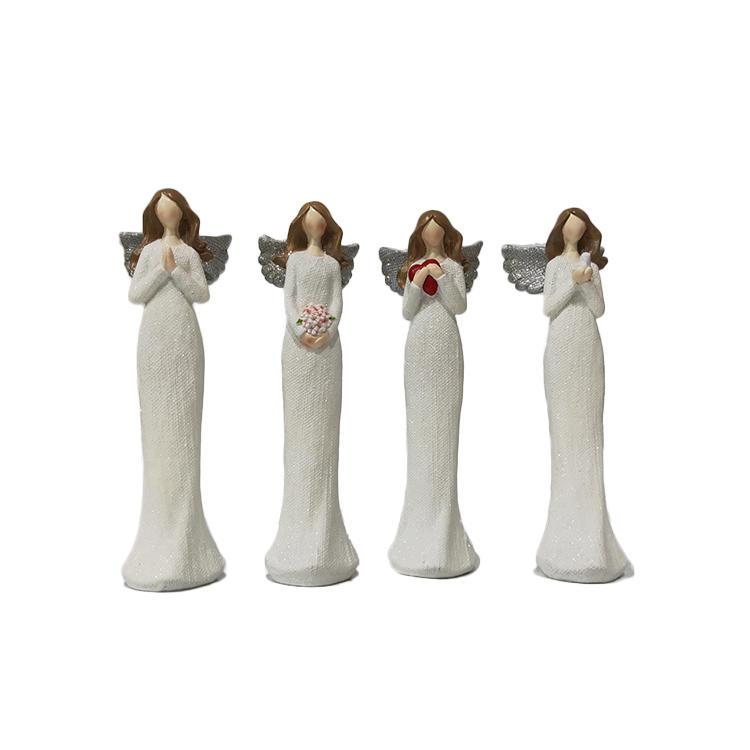 Valentine's Day decoration Handmade Resin Praying White Angel Statue