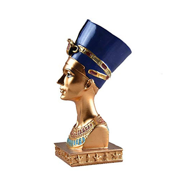 Egyptian queen statue resin home decor ornament figurine