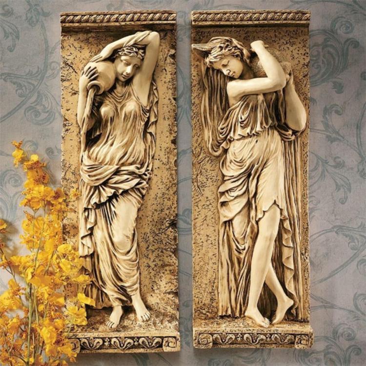 New resin maiden figurine home decor statue