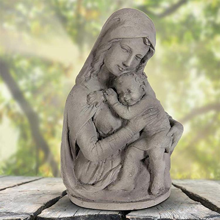 Christian home decor mother figure resin statue kid spiritual garden statue