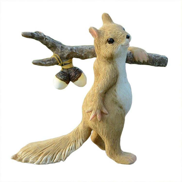 Garden squirrel statue squirrel figurines ornament
