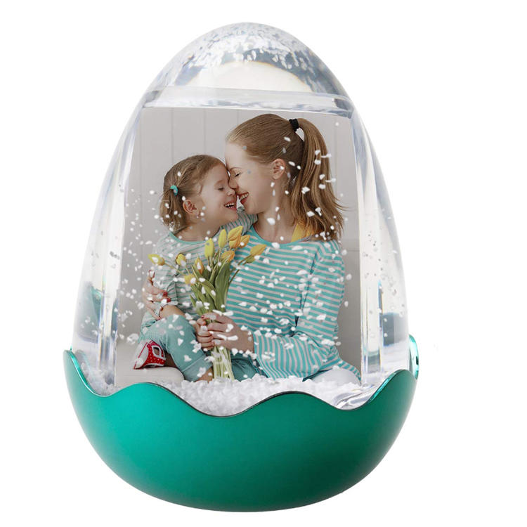 Resin easter love snow globe dome