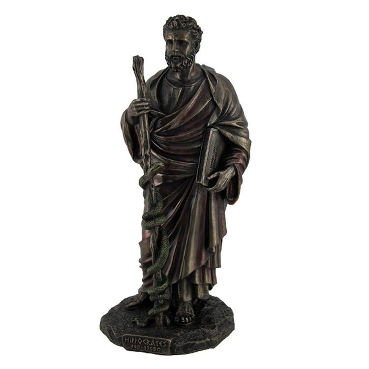 Greek resin statue Hippocrates figurine garden decor