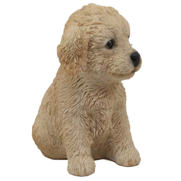 Labradoodle statue dog resin garden figurine home  decor