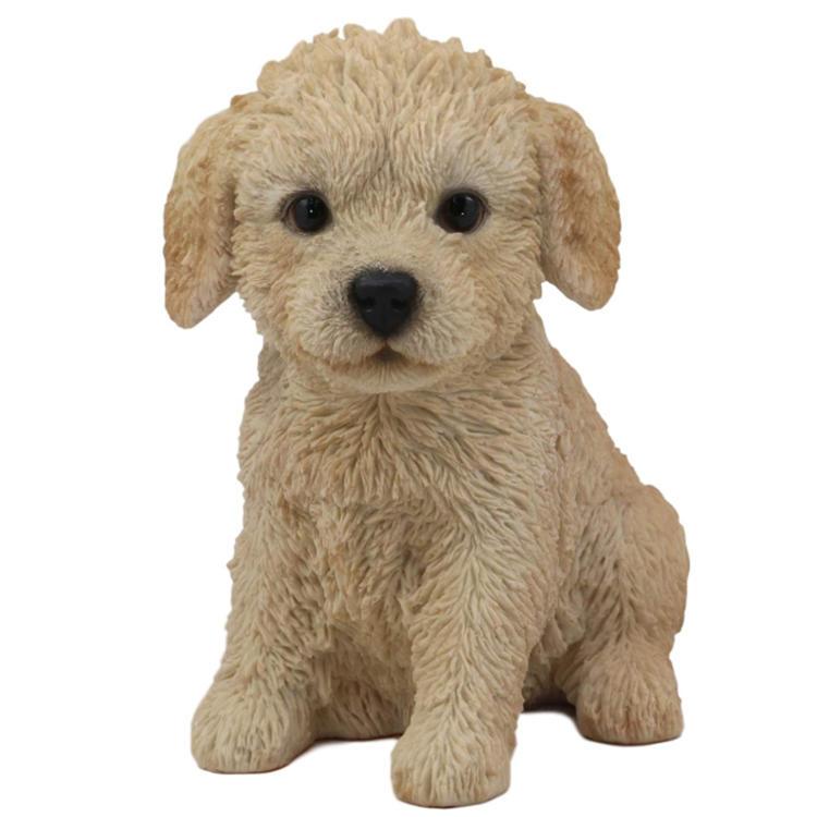 Labradoodle statue dog resin garden figurine home  decor