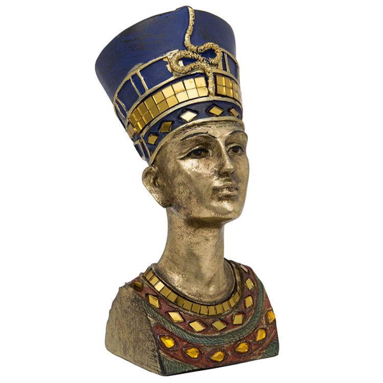 Statue Nefertiti head resin ornament decorative  figurine
