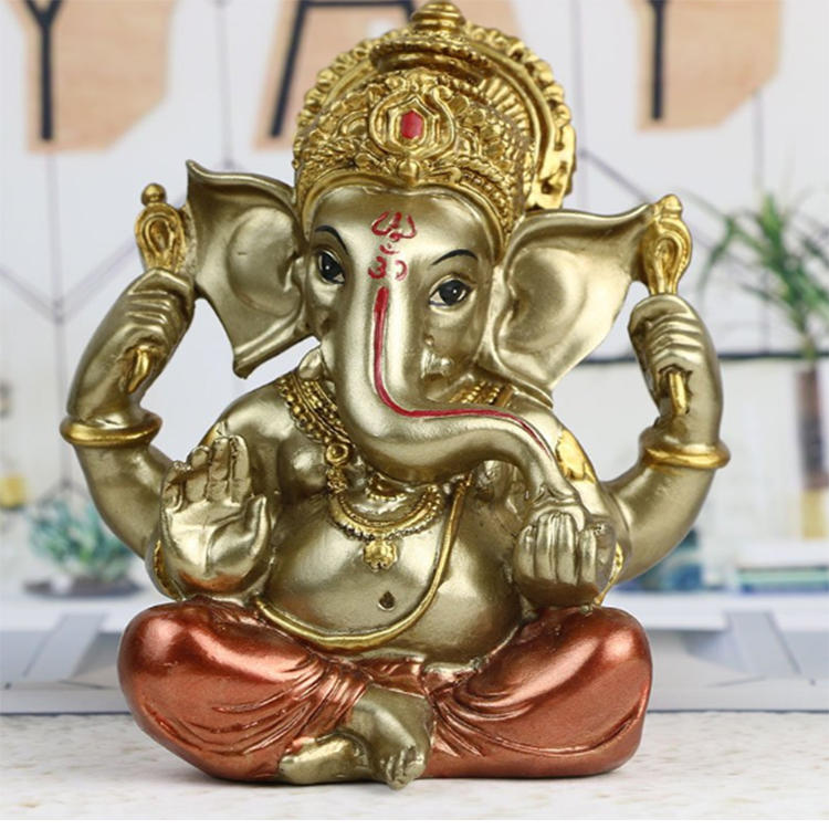 Resin ganesh statue wholesale polyresin garden figurine