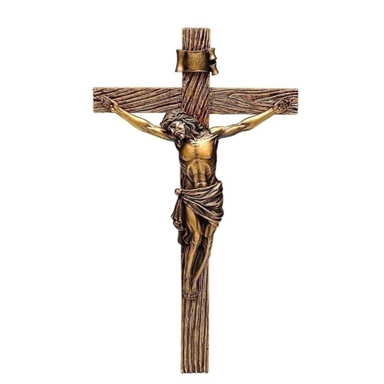 Jesus christ decoration statue cross linked polyethylene resin figurine