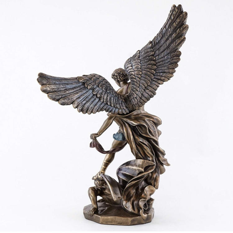 St michael statue figurine decor resin angel miguel