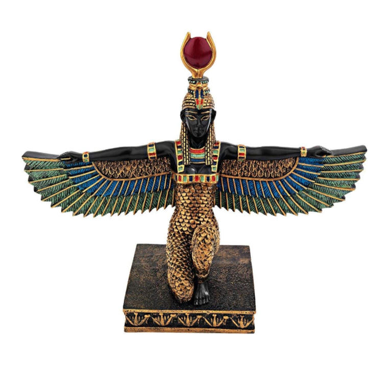Egyptian style statue beauty  figurine resin home ornament